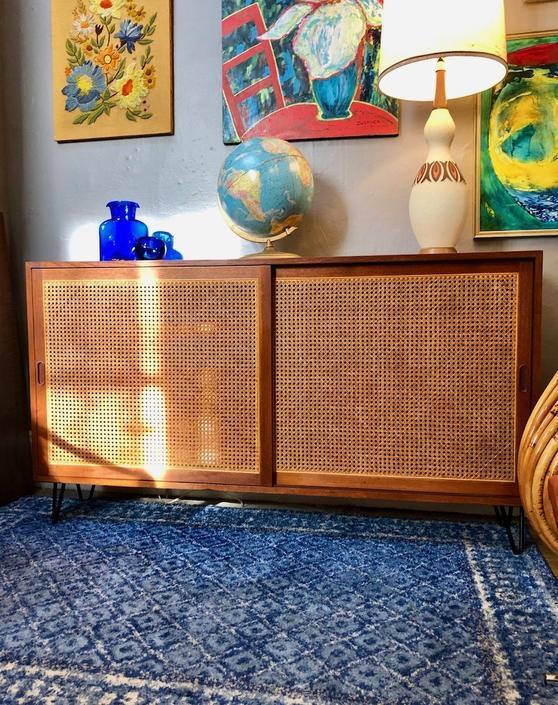 Vintage custom built Danish Teak Cabinet
