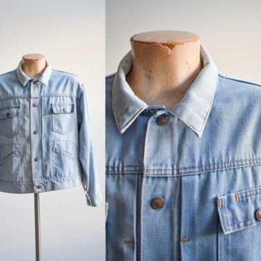 Vintage JC Penny Light Denim Jacket Large by milkandice