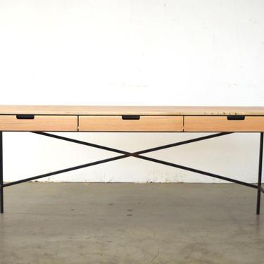Wenworth desk - Oak and Wax steel - Free Shipping by HerbsFurniture