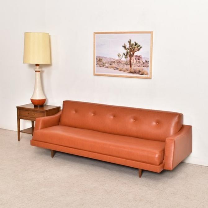 Caramel Vintage Newly Upholstered 1960's Sofa