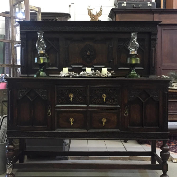 Mid-1800s English Sideboard, English Oak, Free Springfield VA pick up/Shipping optional-Extra by RustandRefind