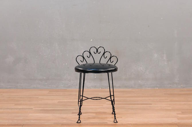 Iron & Vinyl Vanity Stool – ONLINE ONLY