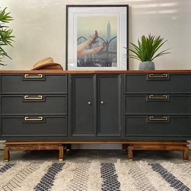 Vintage Mid Century Modern Dresser Credenza by American of Martinsville *Local Pick Up Only by BluePoppyFurniture