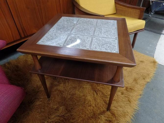 Mid-Century Modern large tile top square table