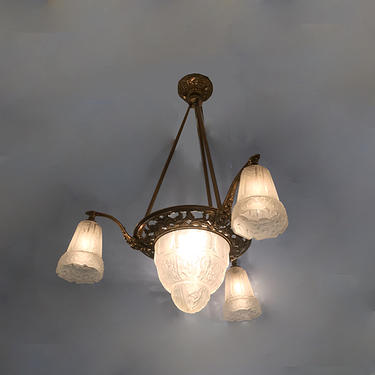 French Art Deco Ceiling Light (More Information Coming Soon)