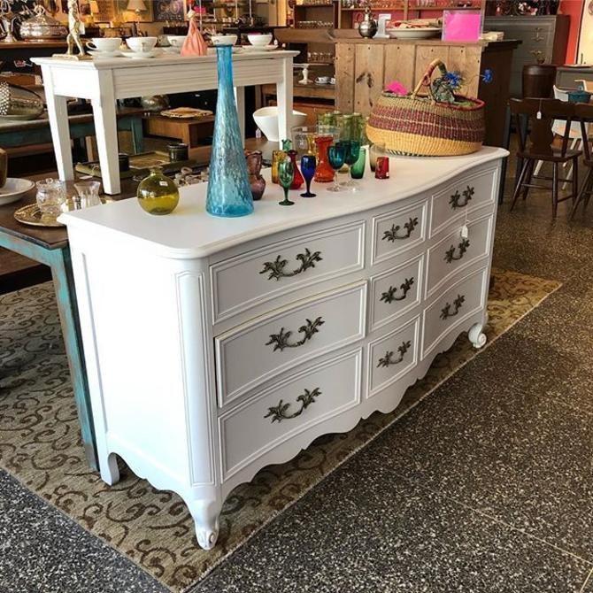 Gorgeous white French provincial dresser! $595!