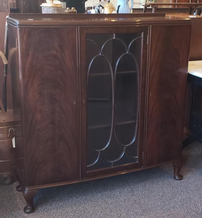 Item #S2056 Beautiful Mahogany Display Cabinet c.1930s