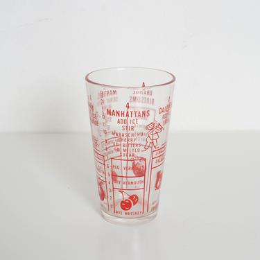 vintage cocktail shaker glass by fingerlickingvintage