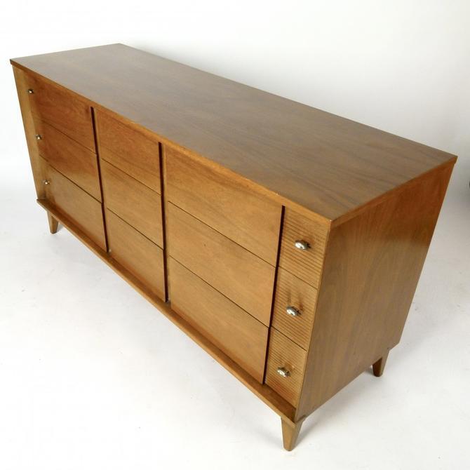 Nine Drawer Bleached Walnut Dresser