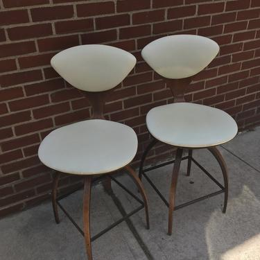 Plycraft Bar Stools by Norman Cherner Set of 2- Near Mint by bcdrygoods