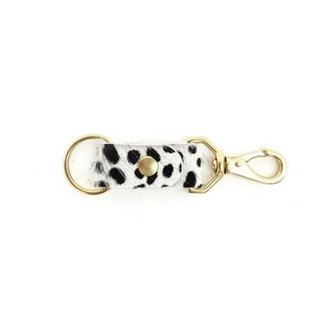 Tiny Spotted Cowhide Keychain