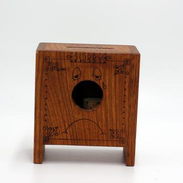 vintage Toystalgia wood bank/1977 by suesuegonzalas