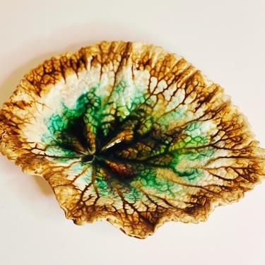 Majolica Begonia Leaf Plate
