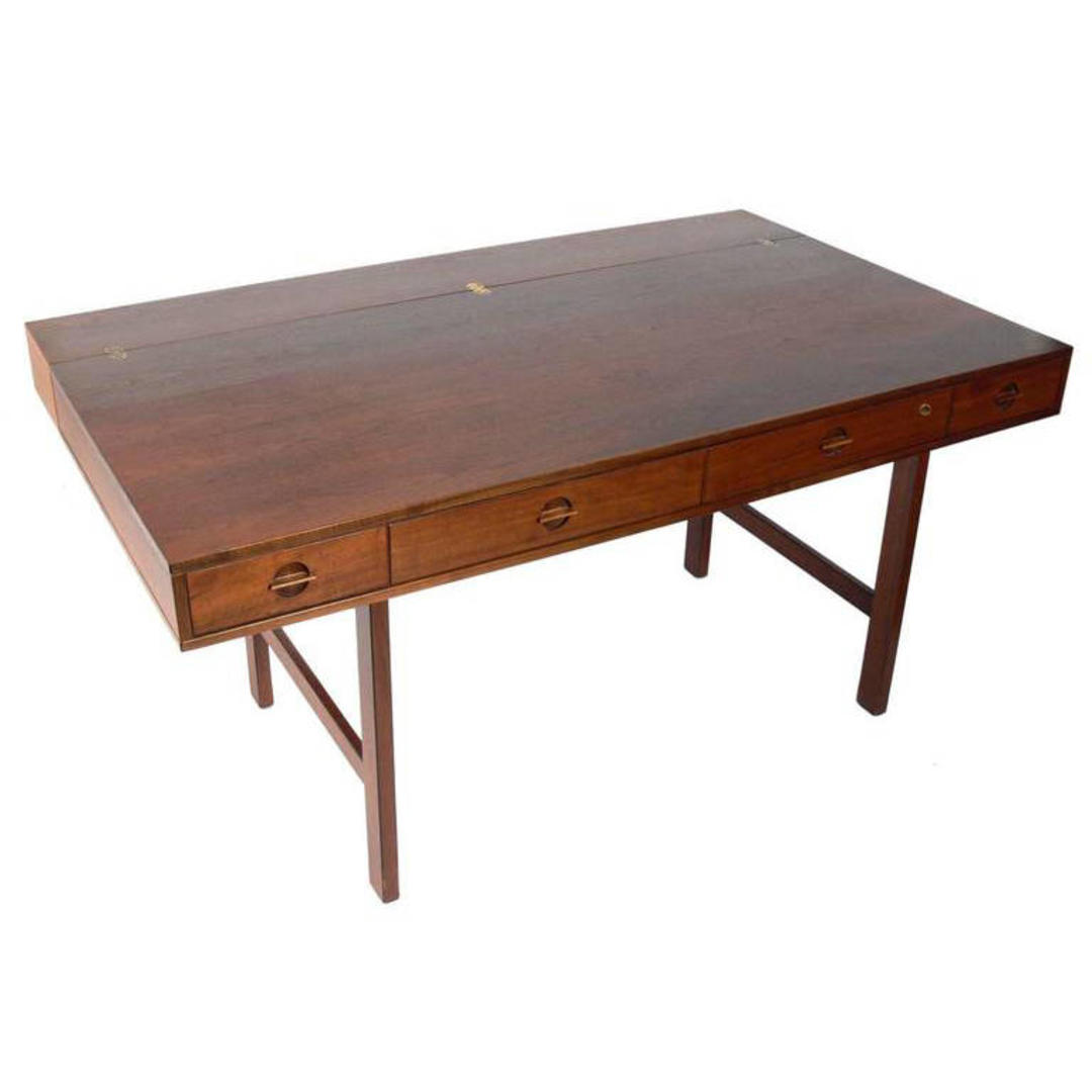 Rare Walnut Vintage Quistgaard Lovig Partners Desk Mid Century Danish Modern By Brainwashington