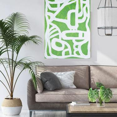 Sale-New Green Large 24x36, 36x48 Original Canvas Art Painting Abstract Minimalist Modern Contemporary Artwork by ArtbyDinaD by ArtbyDinaD