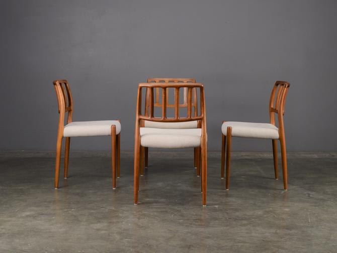 4 Møller Model 83 Dining Chairs Teak Mid Century by MadsenModern