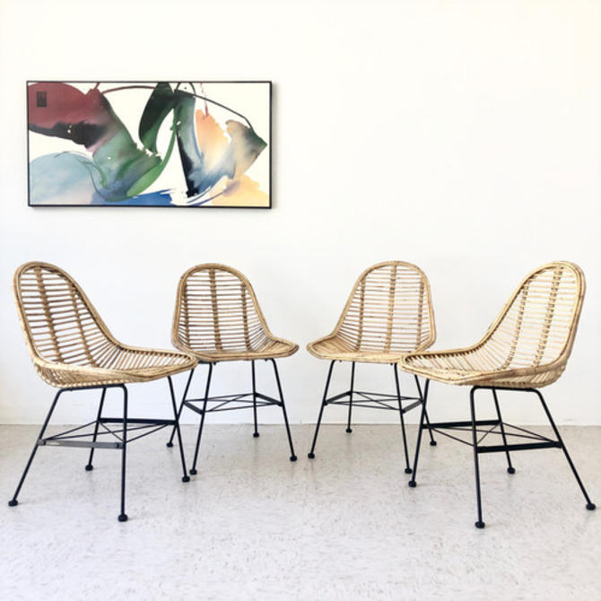 4 Boho Indoor/ Outdoor Dining Chairs