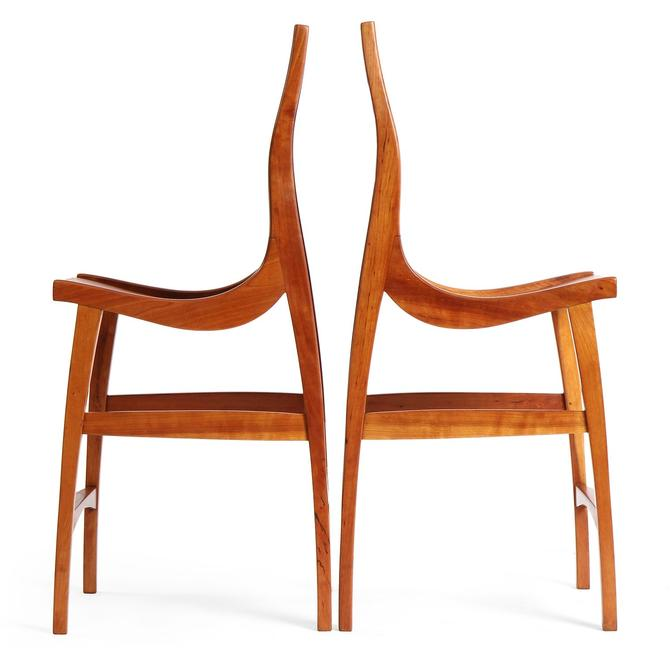 Sculptural High Chairs