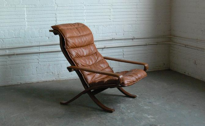 """Ingmar Relling for Westnofa Siesta High Back """"Flex"""" Easy Chair Folding Lounge Chair (2 Available) by CoMod"""
