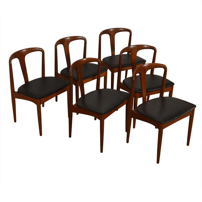 Set of 6 Johannes Andersen for Uldum Møbelfabrik Juliane Teak Dining Chairs