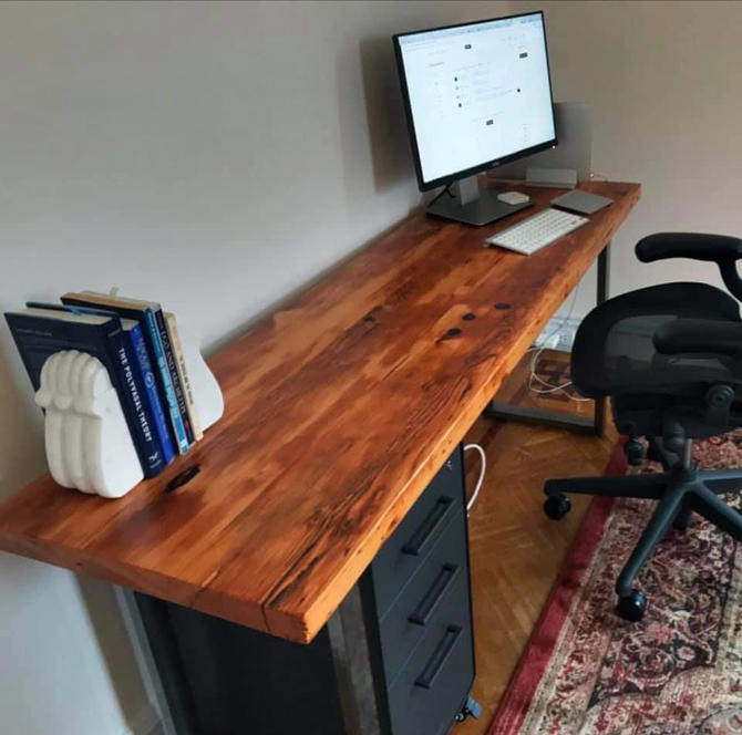 Reclaimed Wood Desk. Industrial Desk. Office Desk. Rustic Desk. Conference Table. Industrial Table. Wood and Steel Desk. Executive Desk. by UrbanIndustrialNW