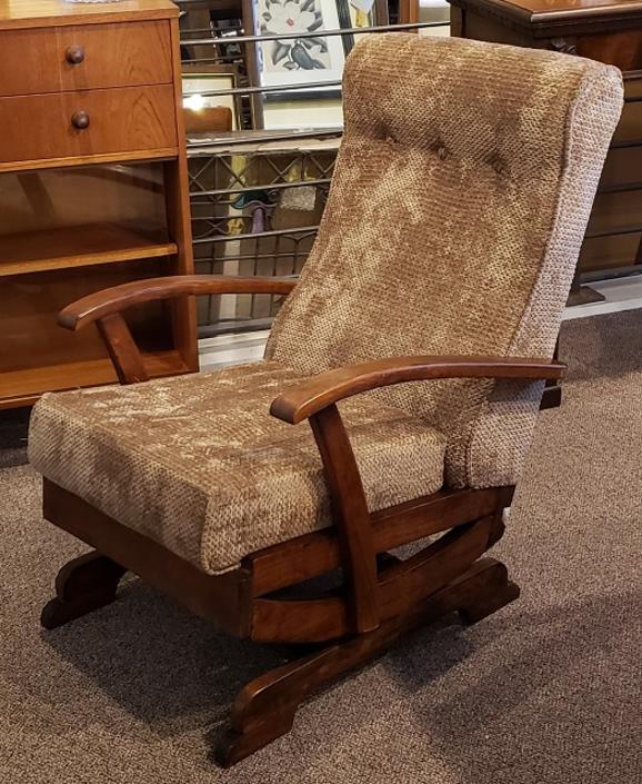 Item #R42 Jacobean Oak Rocking Chair c.1940s