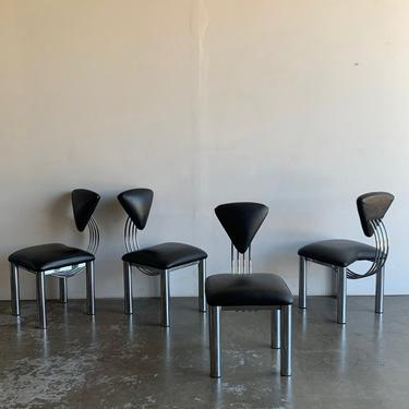 Post modern dining chairs- set of four by VintageOnPoint