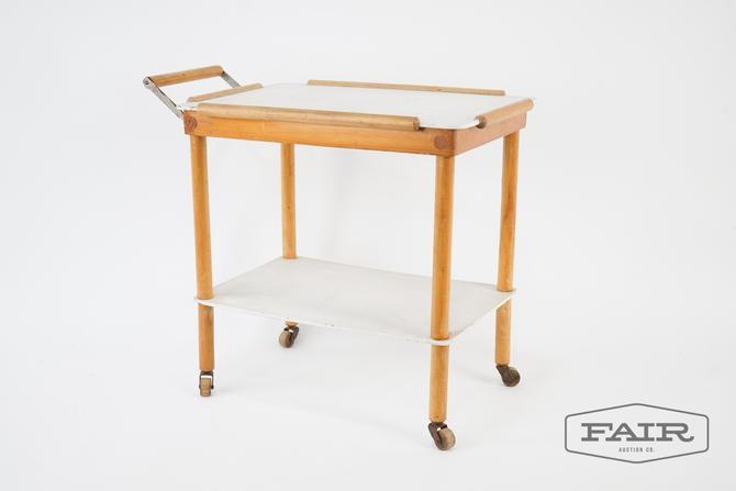 Children's Wooden Push/Bar Cart on Wheels