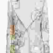 Stella McCartney - Cream Abstract Print Glitter Blazer Sz 8
