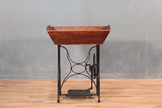 Antique Iron & Wood Sewing Machine Dry Sink