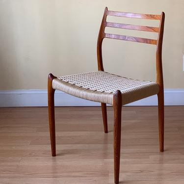 ONE Møller Model 78 Side Chair, Designed by Niels Otto Møller, by J.L. Møllers Møbelfabrik, teak and Danish paper cord by ASISisNOTgoodENOUGH