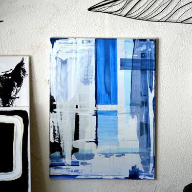 "Sale-UrbnMarket  LARGE 18""x24"" Canvas Painting Abstract Minimalist Art Modern Original Contemporary Artwork Commission Artby ArtbyDinaD by ArtbyDinaD"