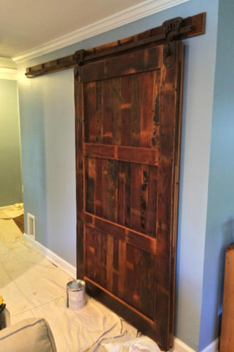 Sliding Barn Door From Reclaimed Wormy Chestnut And