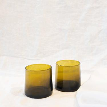 SOCCO Designs - Moroccan Tumblers Bronze - 100% Hand blown Recycled Glass