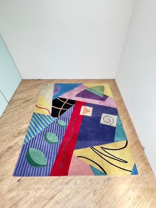 Postmodern Area Rug Seugli Lee Abstract Vintage 90s Post Modern Rug 80s Memphis by 330Modern