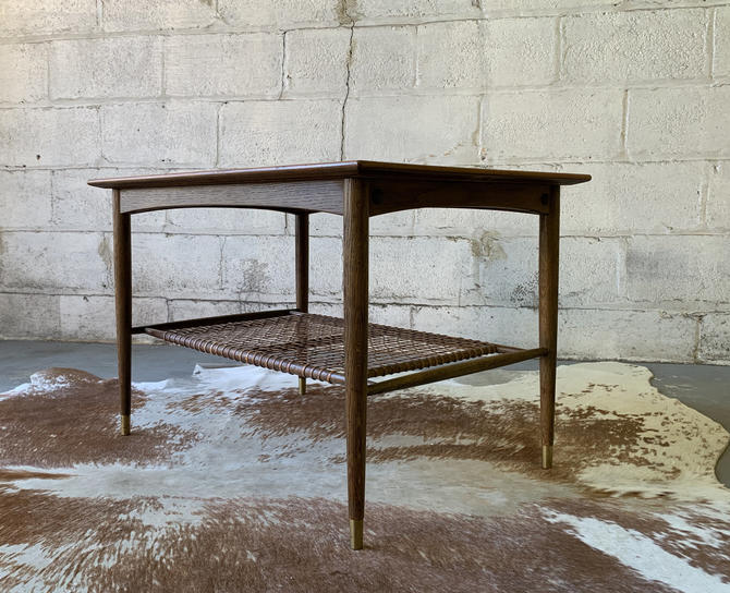 Mid Century Modern TEAK + Oak Side Table / END TABLE, Made in Sweden by CIRCA60