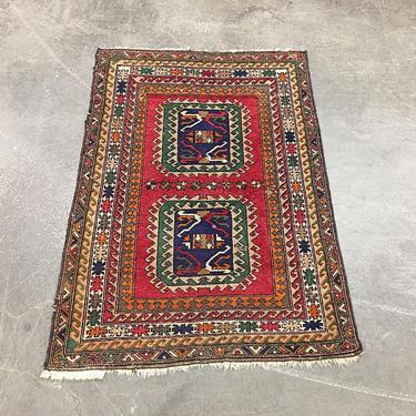 Vintage Wool Rug 1980s Retro Size 72x50 Bohemian + Made in Turkey + Handwoven + Kilim Area Rug + OBA + Turkish Boho + Home and Floor Decor by RetrospectVintage215