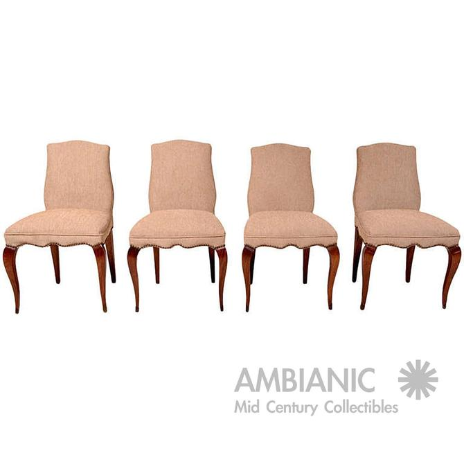 Mid Century Mexican Modernist Set of Four Neoclassical Chairs by Arturo Pani by AMBIANIC