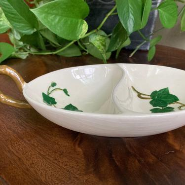 Metlox Poppytrail Ivy Divided Bowl by RavenPearVintage