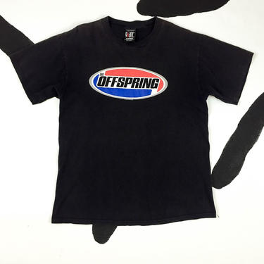 90s The Offspring T shirt / Size Large / Giant by Tultex / Soft / Faded Black / Logo / Cotton / Rock Tee / Punk / Alternative / Y2K / by badatpettingcats