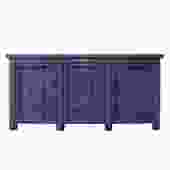 Distressed Purple Lacquer Finish High Credenza Console Buffet Table cs5378S