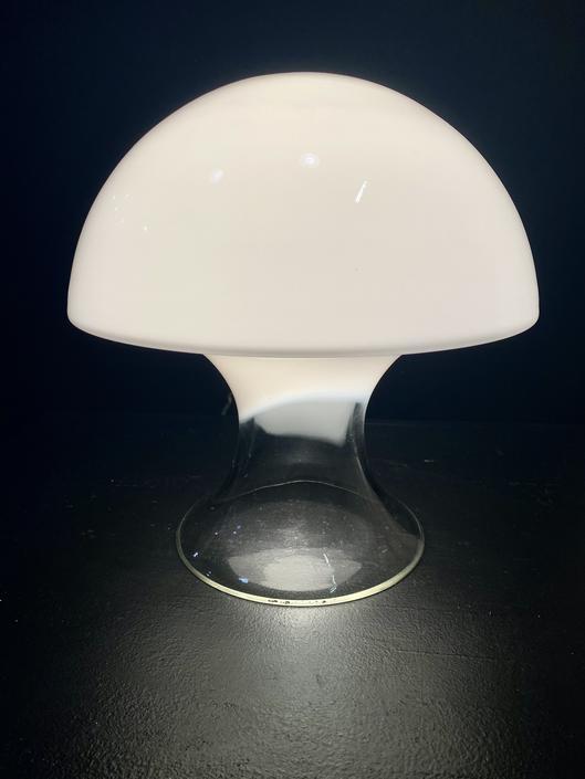 Mid Century Murano Mushroom Lamp by Gino Vistosi