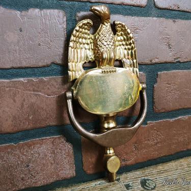 Vintage Brass Eagle Door Knocker by RedsRustyRelics