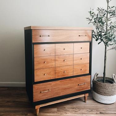 Two-Tone Highboy Dresser by madenewdesignct