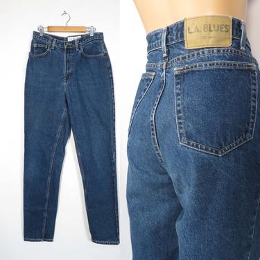 Vintage 90s LA Blues High Waist Mom Jeans Tapered Leg Classic Fit Size 10L 30x32 by VelvetCastleVintage