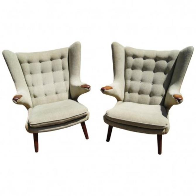 Pair of Papa Bear Chairs by Hans Wegner for A.P. Stolen