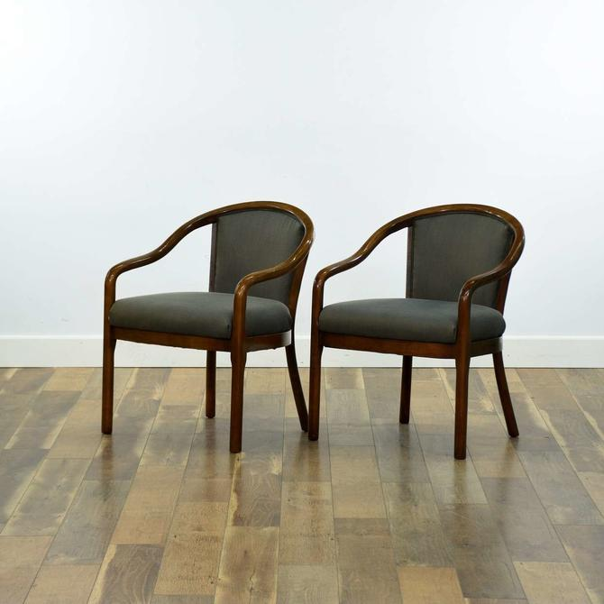 Pair Of Contemporary Bentwood Accent Chairs