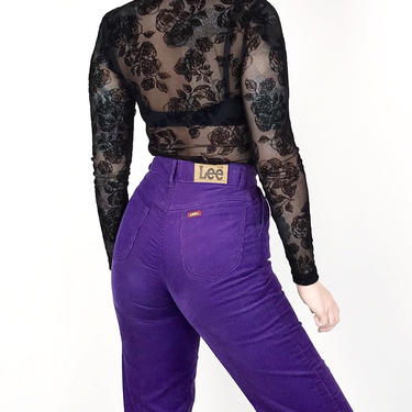 70's Lee Riders Corduroy Purple Pants / Size 22 23 XXS by NoteworthyGarments