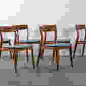 Six Mid-Century Modern Teak Dining Chairs by Viborg Stolefabrik, Denmark
