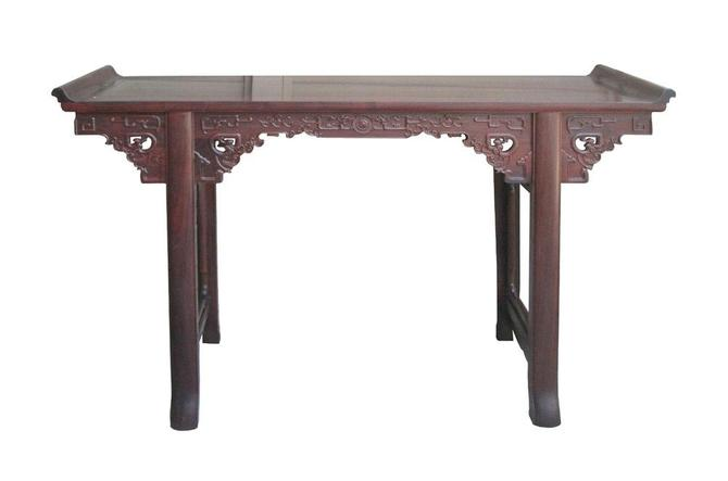 Chinese Ming Style Rosewood Dragon Altar Table Desk jz178E by GoldenLotusAntiques